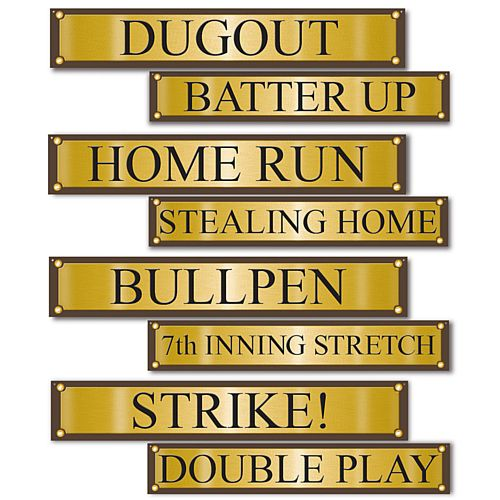 Baseball Street Sign Cutouts - 61cm
