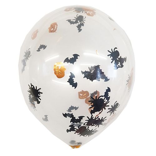 "Halloween Confetti Latex Balloons - 12"" - Pack of 6"