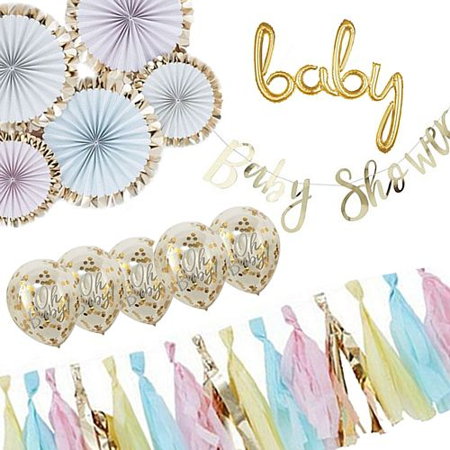 Neutral Baby Shower Decoration Pack