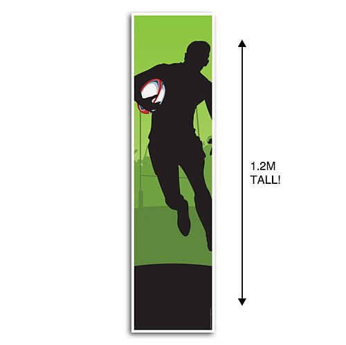 Rugby Player Portrait Wall and Door Banner Decoration - 1.2m
