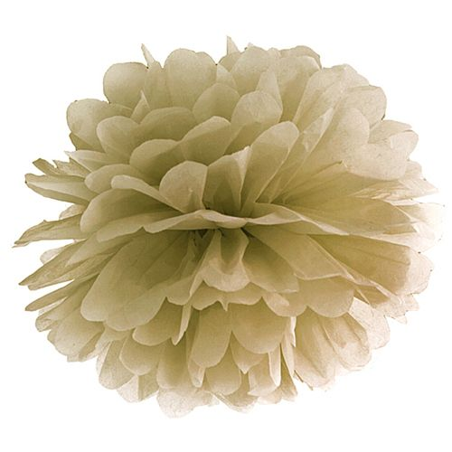 Gold Pom Pom Tissue Decoration - 40cm