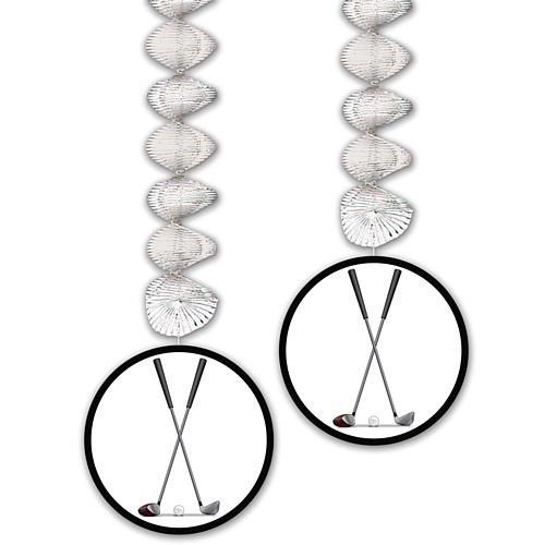 Golf Ball Danglers - 76cm - Pack of 2