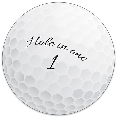 Golf Ball Cutout - 25cm
