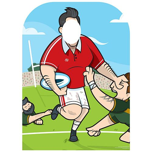Child-Sized Rugby Stand-in Cardboard Cutout - 1.3m