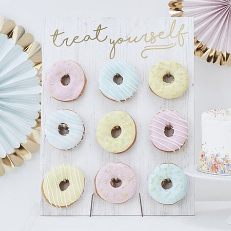'Treat Yourself' Doughnut Wall