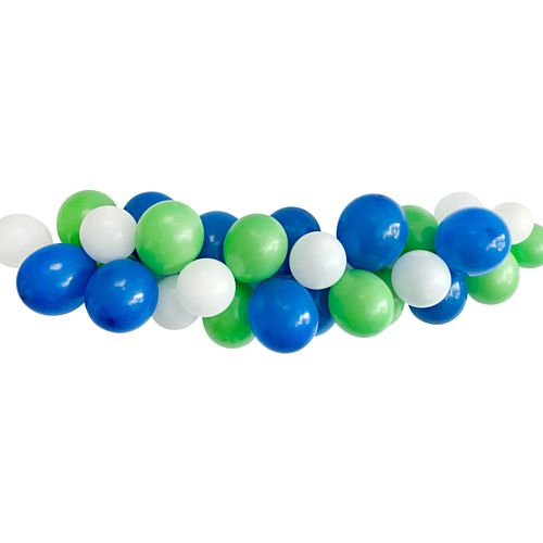 Blue, Green and White Rugby World Cup Balloon Arch DIY Kit - 2.5m