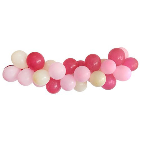 Pink & White Balloon Arch DIY Kit - 2.5m