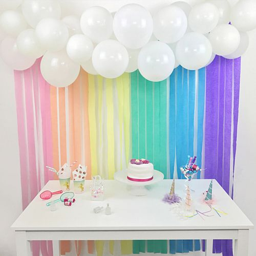 Pastel Rainbow Balloon & Streamer Backdrop Kit