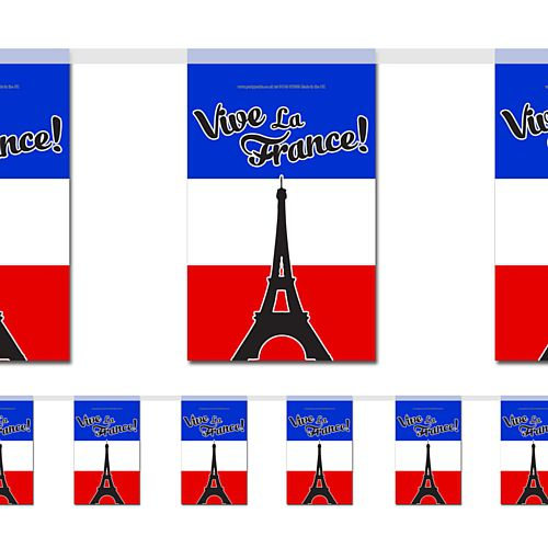 Vive la France French Paper Bunting - 2.4m