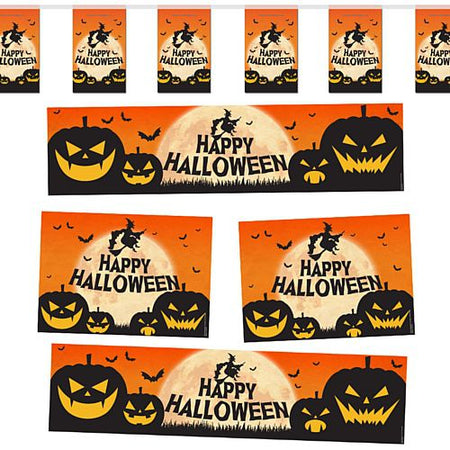 Happy Halloween Witch & Pumpkin Decoration Party Pack