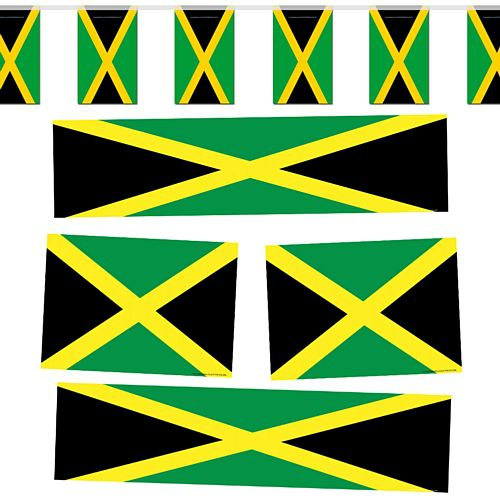 Jamaican Flag Decoration Party Pack