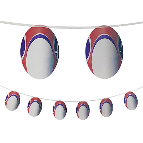 Rugby Ball Garland Hanging Decoration - 2.4m