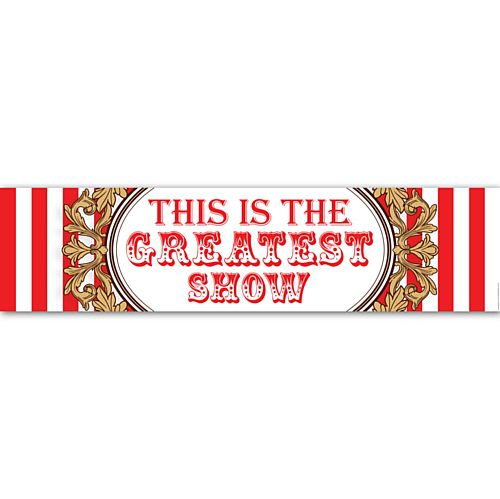 The Greatest Showman Circus Wall Banner Decoration - 1.2m
