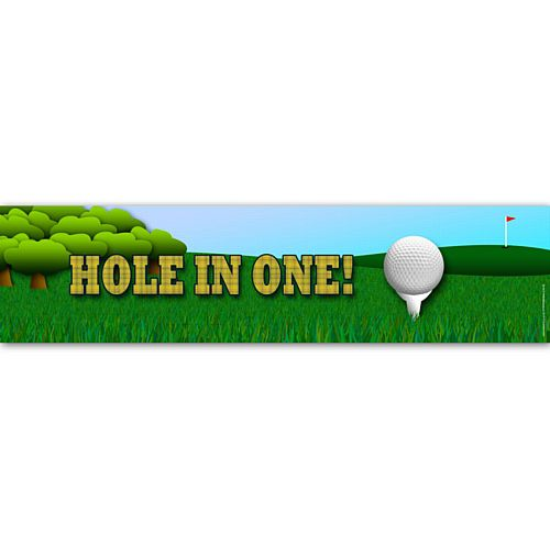 Golf Hole in One Banner Decoration - 1.2m