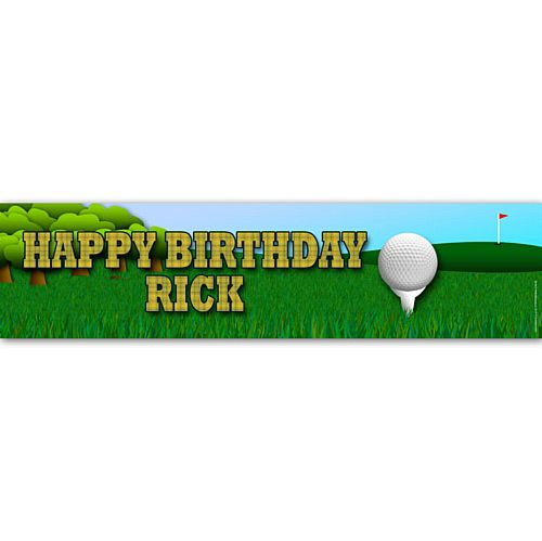 Golf Personalised Banner Decoration - 1.2m