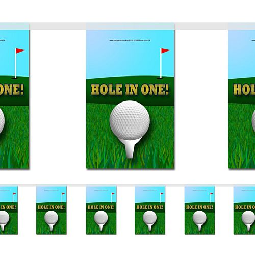 Golf Hole in One Paper Flag Bunting Decoration - 2.4m