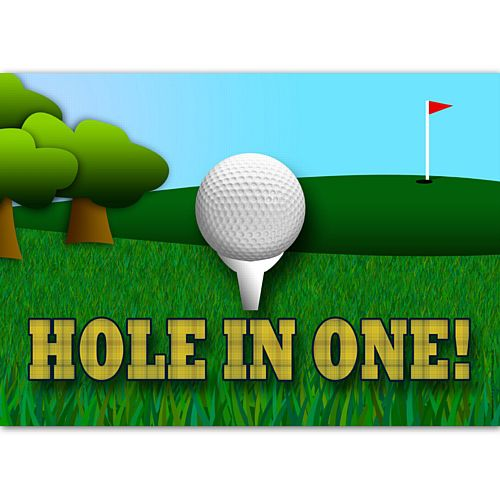 Golf Hole in One Poster Wall Decoration - A3