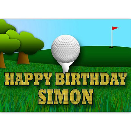 Golf Personalised Poster Wall Decoration - A3