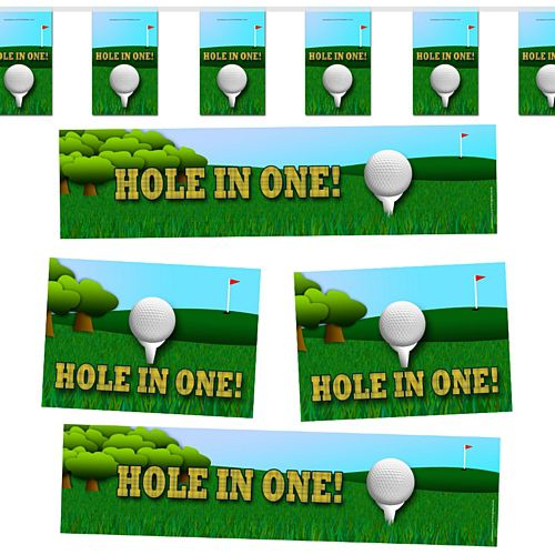 Golf Hole in One Decoration Party Pack