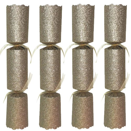 Gold Glitter Christmas Crackers - Box of 100