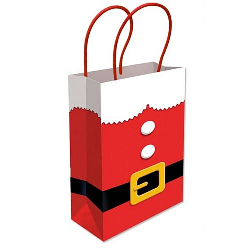 Santa Christmas Paper Party Bag - 22cm - Each