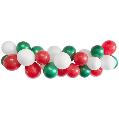 Red, White & Green Balloon Arch DIY Kit