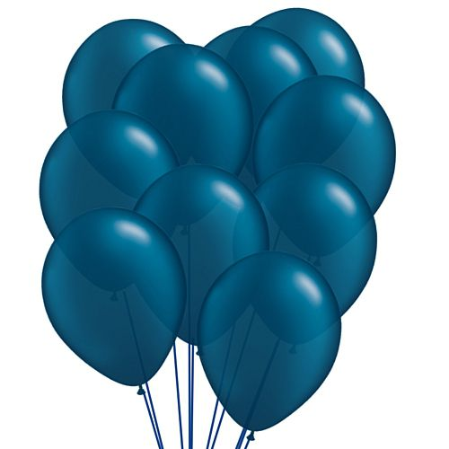 "Navy Blue Pearl Latex Balloons - 11"" - Pack of 10"