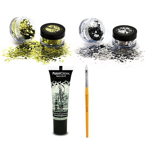 Gold and Silver Biodegradable Glitter Kit