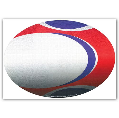 Rugby Ball Poster Wall Decoration - A3