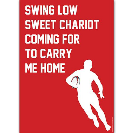 Swing Low Sweet Chariot Rugby Poster - A3