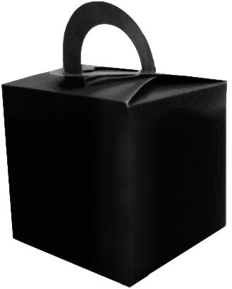 Black Favour Box - 6.5cm - Each