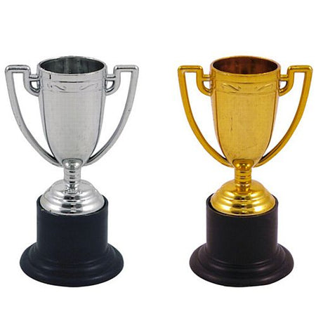 Plastic Trophies - Assorted Silver & Gold - 9.5cm - Each