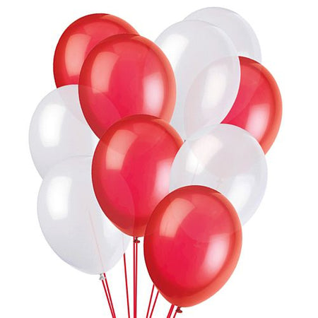 Click to view product details and reviews for Red And White Latex Balloons 10 Pack Of 50.