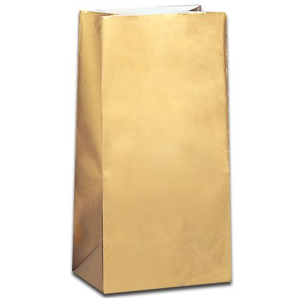 Gold Metallic Colour Party Bags - Pack of 10