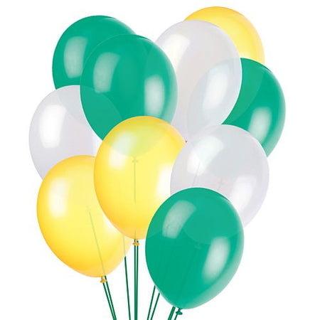 Click to view product details and reviews for Green White And Yellow Latex Balloons 10 Pack Of 50.