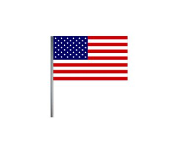 American Small Cloth Flag On A Pole - 23cm x 15cm