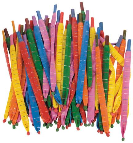 Rocket Balloons Bulk - Balloons and Mouthpiece - Pack of 144