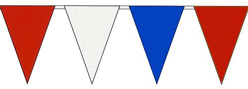 Red, White & Blue Plastic Bunting 50ft (15m) - Economy