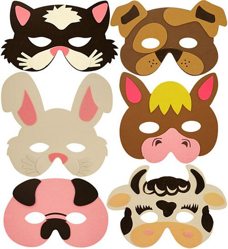 Assorted Farm Foam Animal Masks - Each