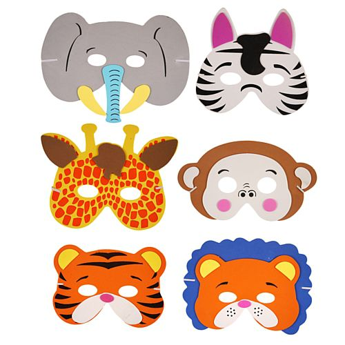 Assorted Jungle Foam Animal Masks - Each