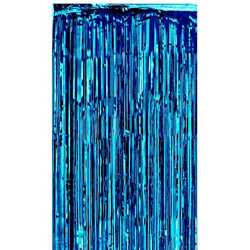 Blue Shimmer Curtain - Flame Retardant - 2.7m