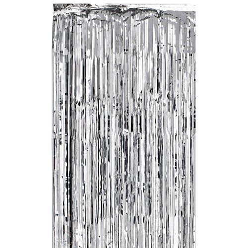Silver Shimmer Curtain - Flame Retardant - 2.4m