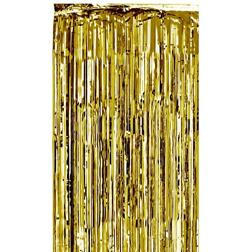 Gold Shimmer Curtain - Flame Retardant - 2.7m