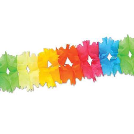 Multicolour Tissue Garland - Giant - 4.4m