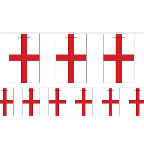 England St George's Large Flag Bunting - 4m