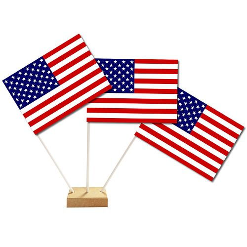American Table Flags 15cm on 25cm Pole