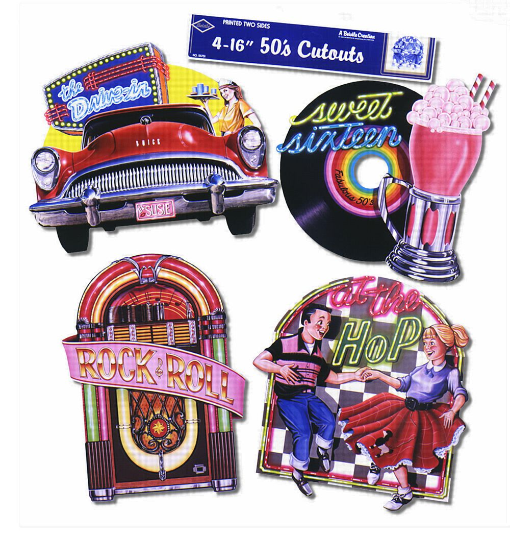 50s Cutouts - Set of 4 - 16""