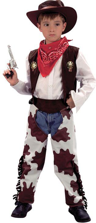 Cowboy Costume With Cowprint Chaps