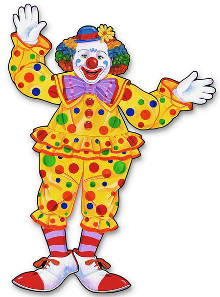 Click to view product details and reviews for Clown Jointed Cutout Wall Decoration 76cm.