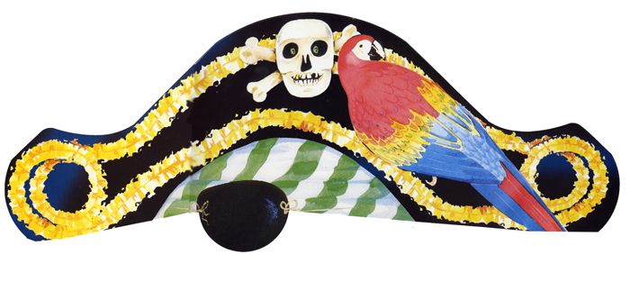 Pirate Card Hats - Each